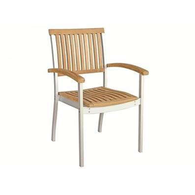Teak U0026 Stainless Steel Stackable Armchair ... Part 96