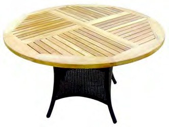 Sedex Hularo Round Teak Top 110cm Dining Table WRTBL006Buy